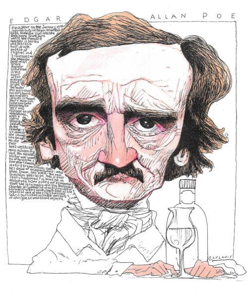 Edgar Allan Poe by Mike Caplanis