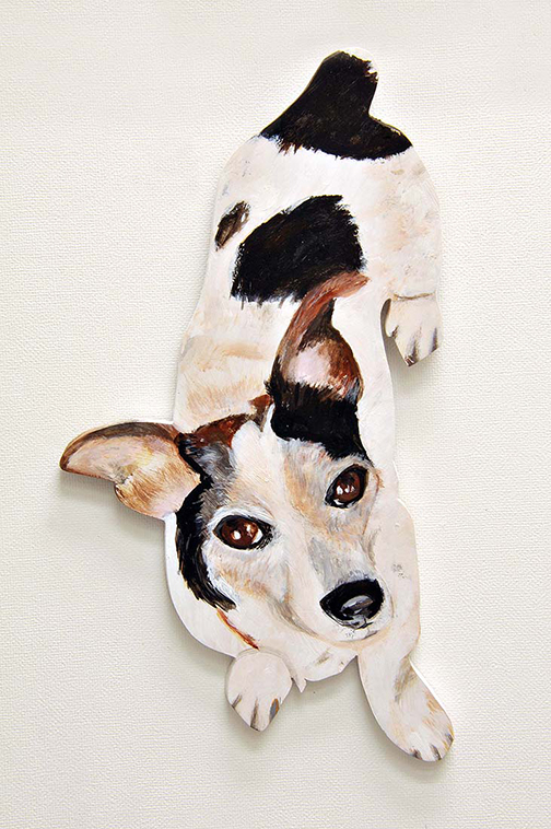 Seena Sussman Gudelsky dog on the wall